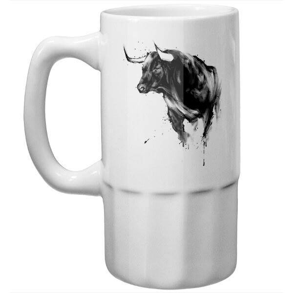 Пивная кружка Рисунок быка