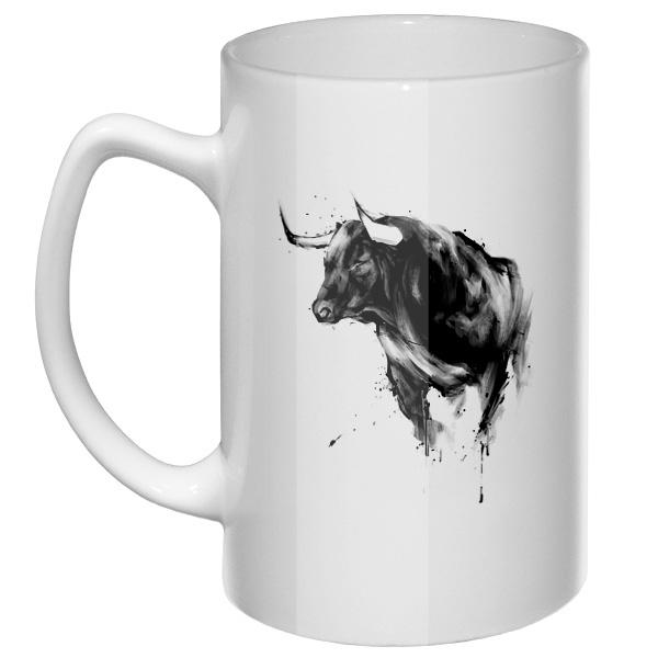 Большая кружка Рисунок быка