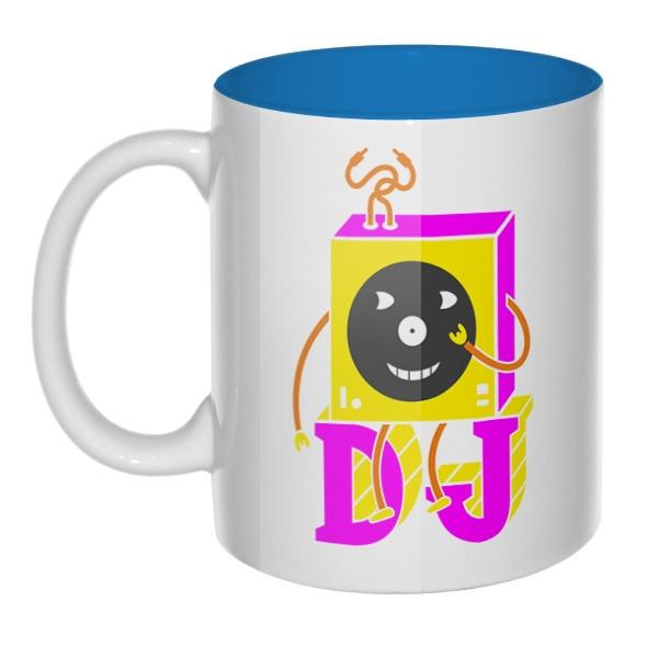 DJ, кружка цветная внутри