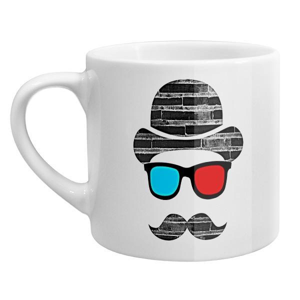Кофейная чашка Шляпа, усы, стереоочки
