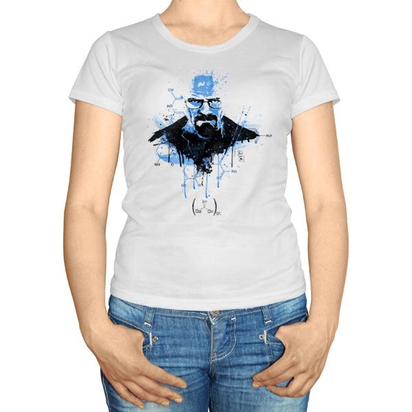Женская футболка Хайзенберг с формулами