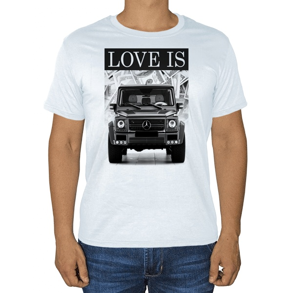 Love Is Gelandewagen, белая футболка