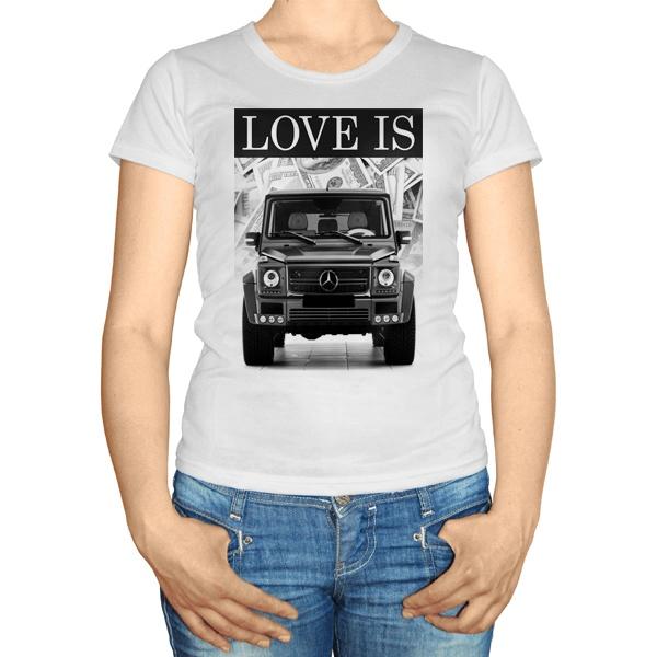 Женская футболка Love Is Gelandewagen