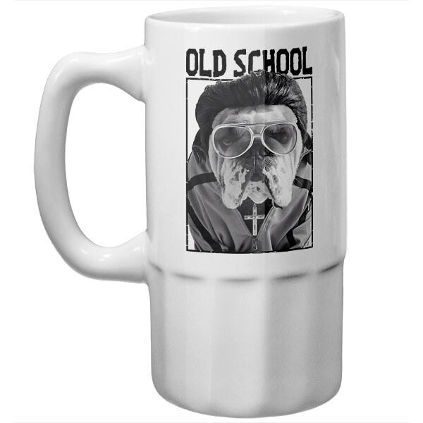 Пивная кружка Old school