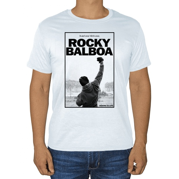 Rocky Balboa, белая футболка