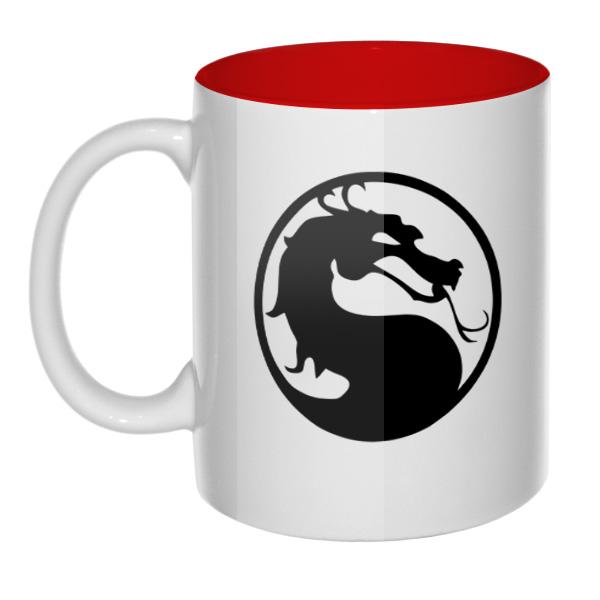 Mortal Kombat (Смертельная битва), кружка цветная внутри, цвет красный