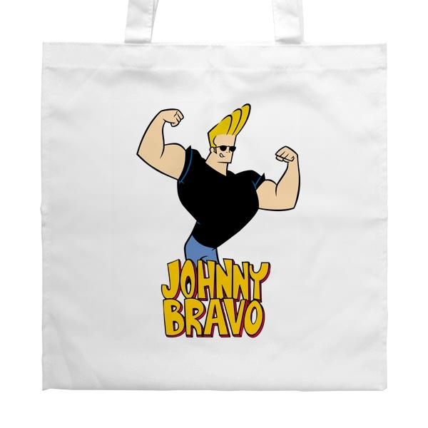Белая сумка Johnny Bravo