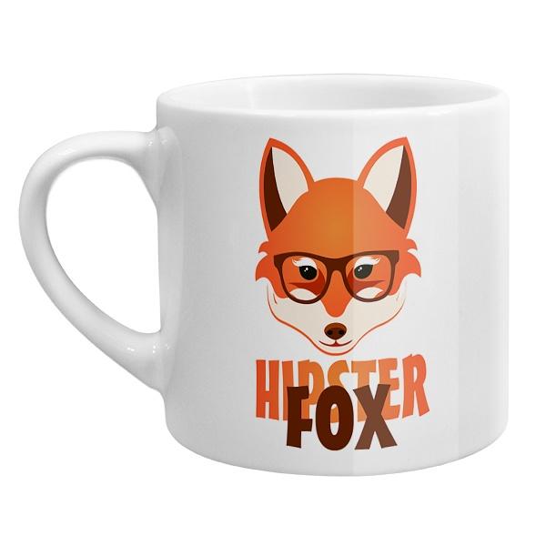 Кофейная чашка Лиса-хипстер