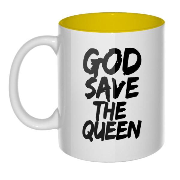 Кружка цветная внутри God Save the Queen