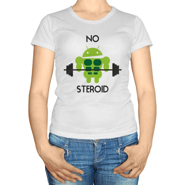 Женская футболка No steroid