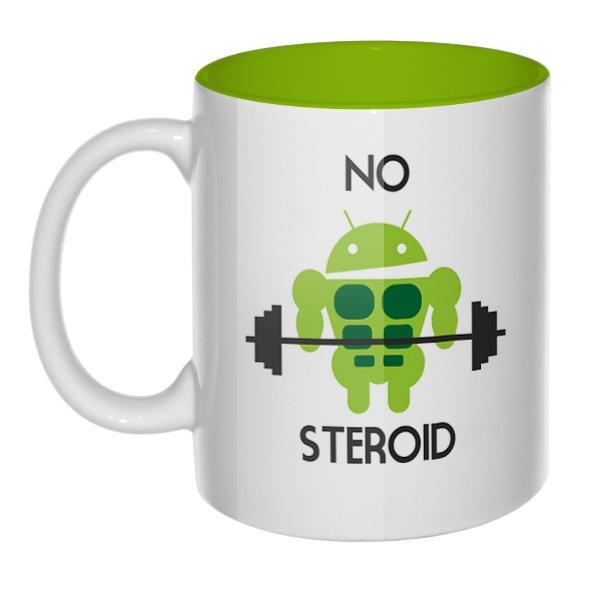 No steroid, кружка цветная внутри