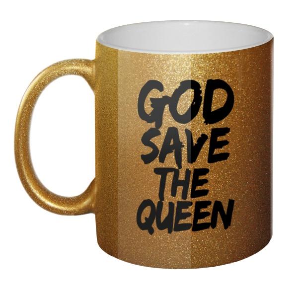Кружка блестящая God Save the Queen