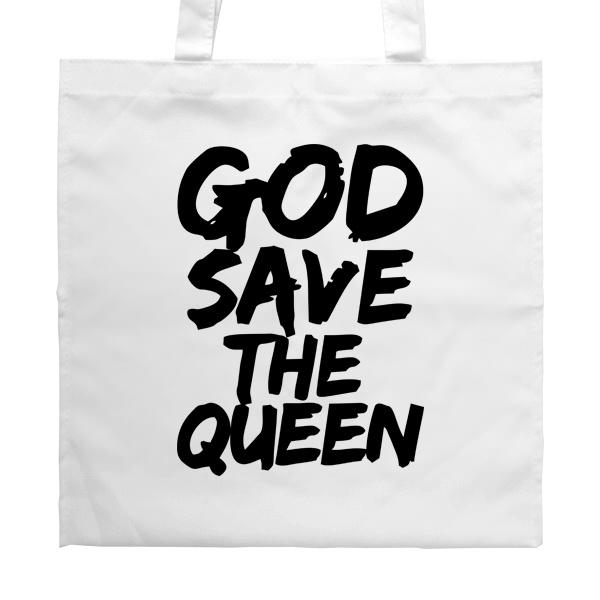 Белая сумка God Save the Queen