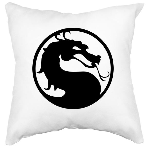 Подушка Mortal Kombat (Смертельная битва), цвет белый