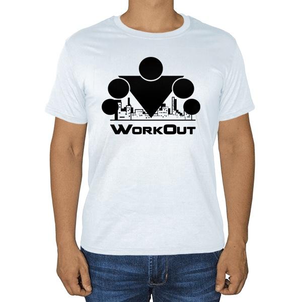 Белая футболка Workout