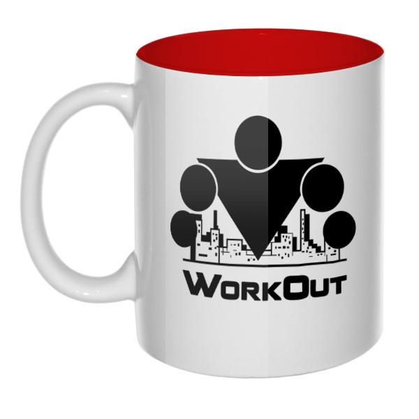 Кружка цветная внутри Workout
