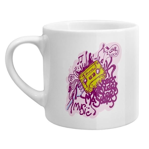 Кофейная чашка I love rock