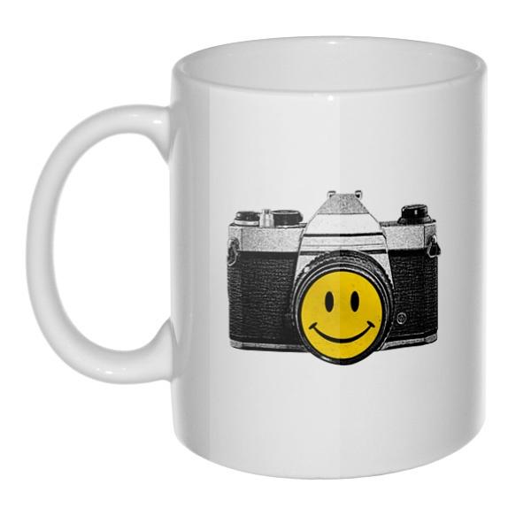 Кружка Фотоаппарат со смайликом