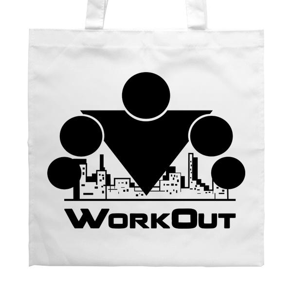 Белая сумка Workout