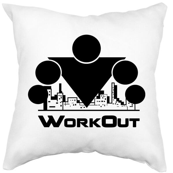 Подушка белая Workout