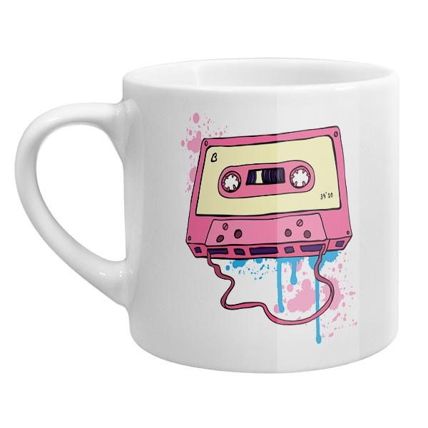 Кофейная чашка Аудиокассета с магнитной лентой