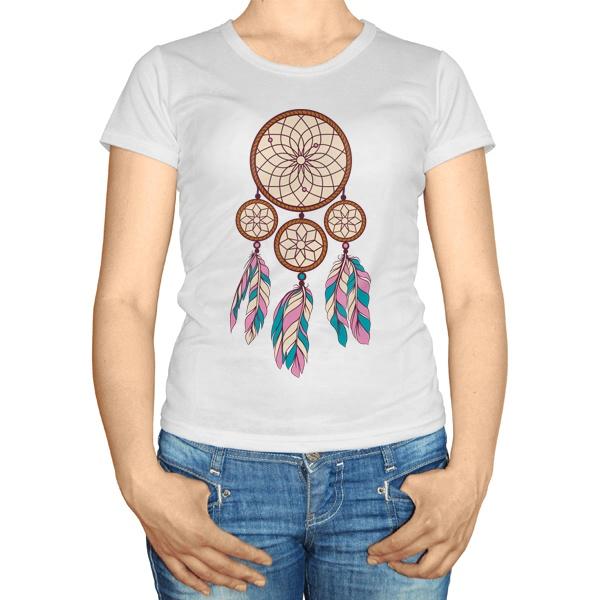 Женская футболка Индейский амулет