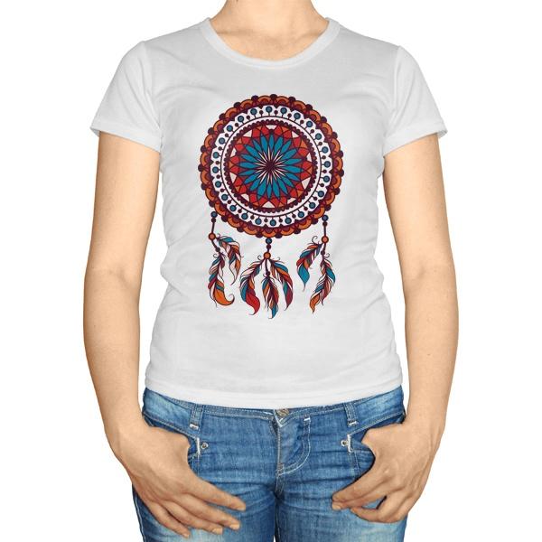 Женская футболка Индейский амулет Ловец снов