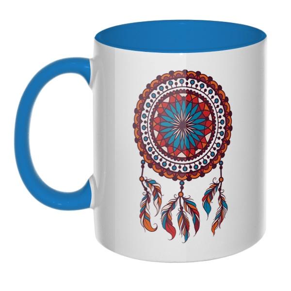 Индейский амулет Ловец снов, кружка цветная внутри и ручка