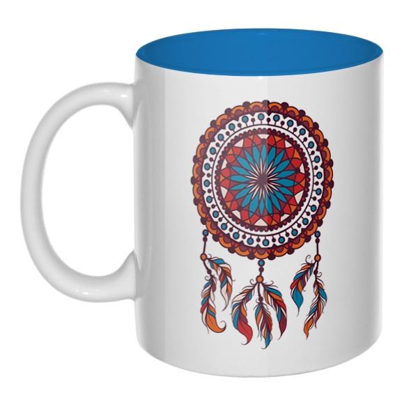 Индейский амулет Ловец снов, кружка цветная внутри