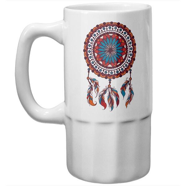 Пивная кружка Индейский амулет Ловец снов