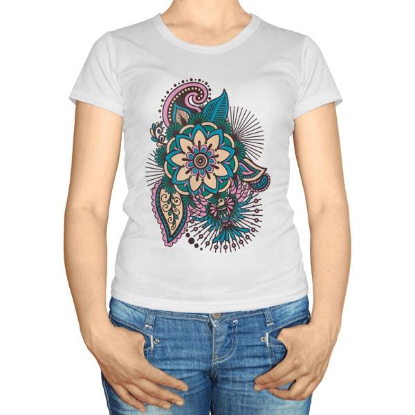 Женская футболка Индийский узор