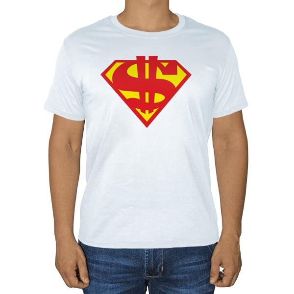 Супер доллар, белая футболка