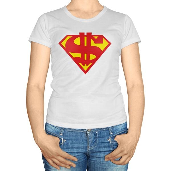 Женская футболка Супер доллар