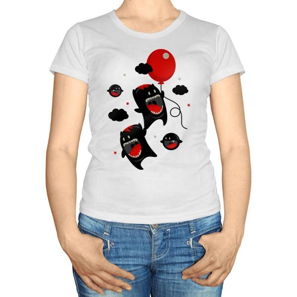 Женская футболка Монстры с шариком