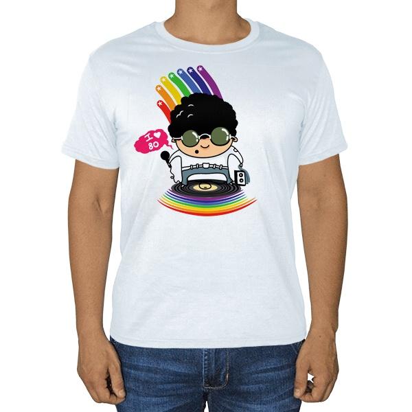 Я люблю 80-е, белая футболка