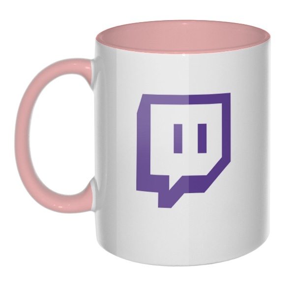 Кружка Twitch цветная внутри и ручка