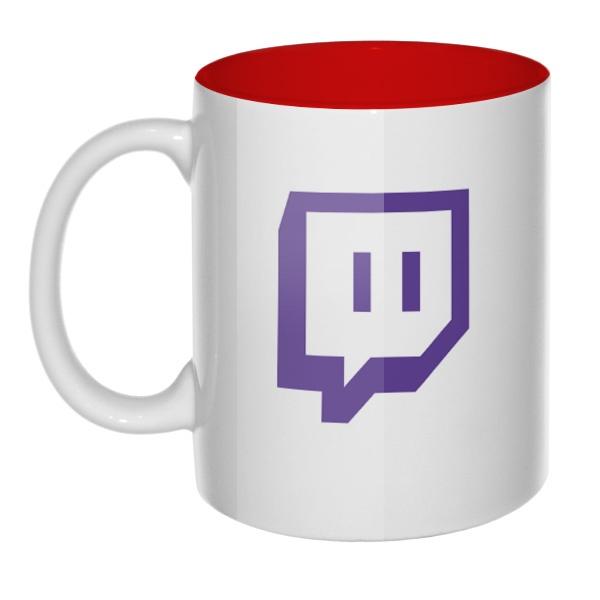 Кружка цветная внутри Twitch