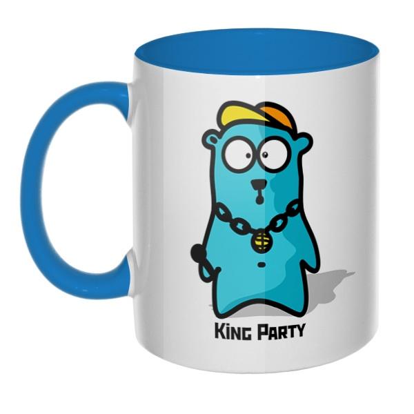 King party, кружка цветная внутри и ручка