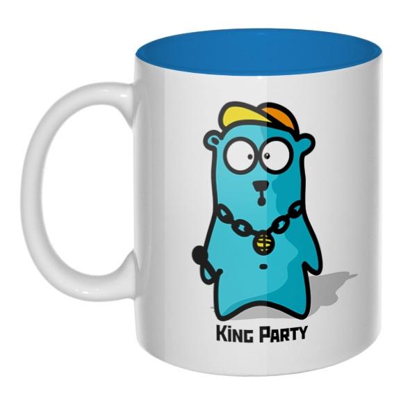 King party, кружка цветная внутри