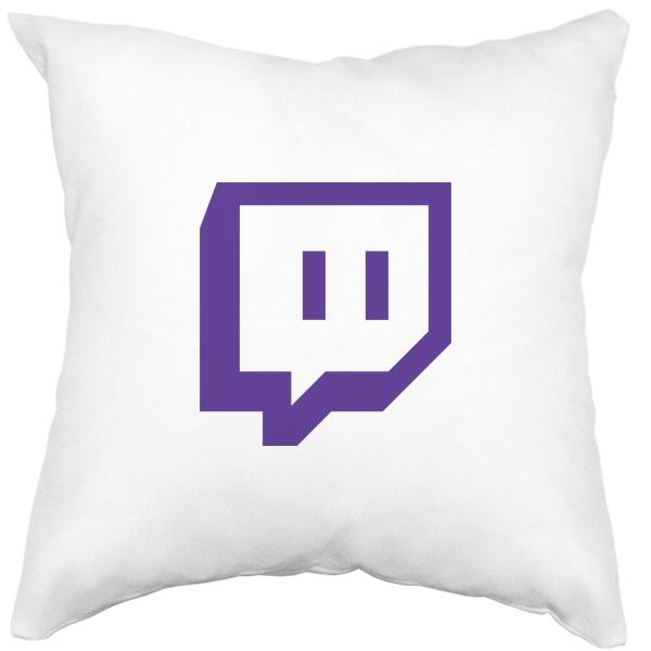 Подушка белая Twitch