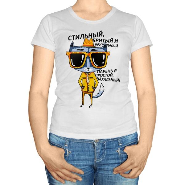 Женская футболка Стильный кот