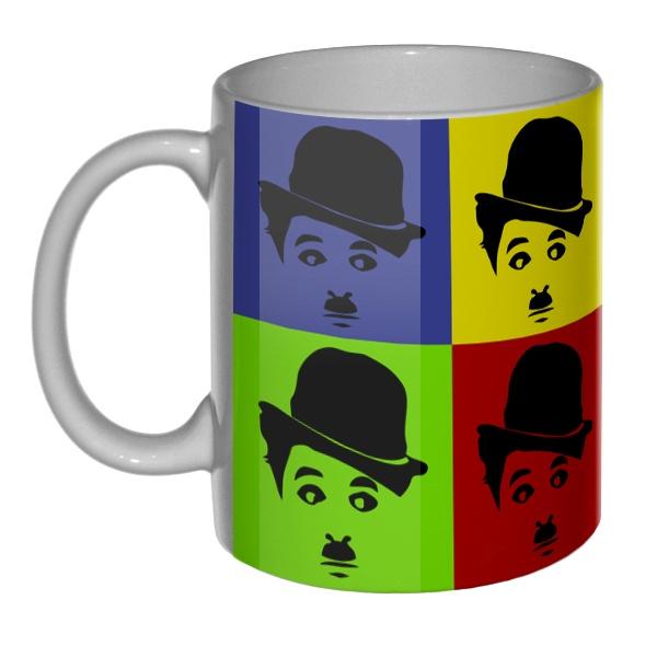 3D-кружка Чарли Чаплин поп-арт