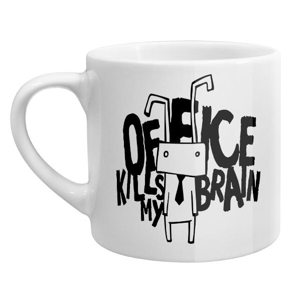 Кофейная чашка Office kills my brain