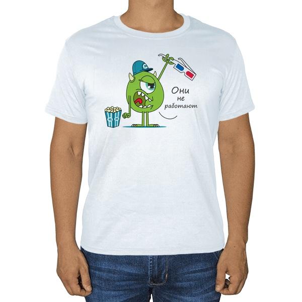 Майк Вазовски и 3D-очки, белая футболка