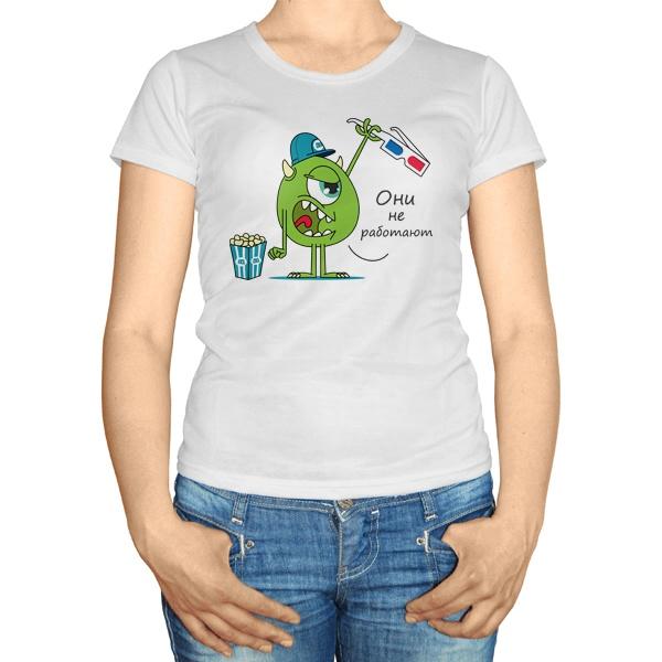 Женская футболка Майк Вазовски и 3D-очки
