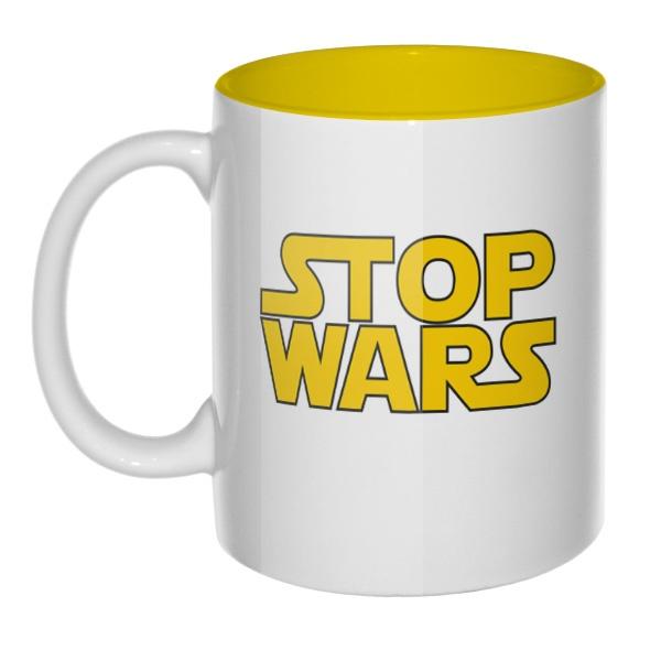 Кружка цветная внутри Stop Wars