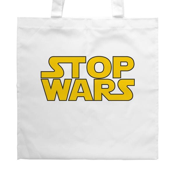 Белая сумка Stop Wars