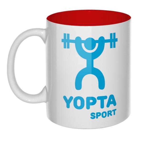 Yopta Sport, кружка цветная внутри