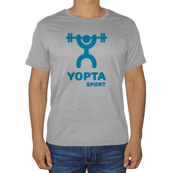 Yopta Sport, серая футболка (меланж)