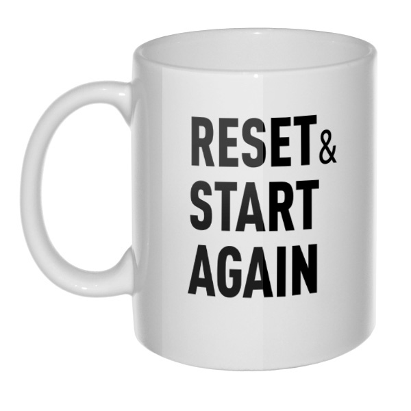Кружка Reset and Start again